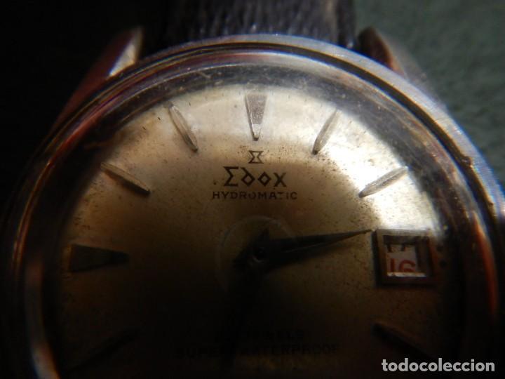 Vintage: Reloj Edox hidromatic - Foto 4 - 194226773