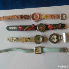Vintage: LOTE DISNEY 5 RELOJES QUARZ VINTAGE. Lote 194288491