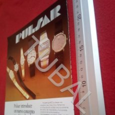 Vintage: TUBAL PULSAR QUARTZ RELOJERIA RELOJES PUBLICIDAD ANTIGUA 100% ORIGINAL B19. Lote 194490958