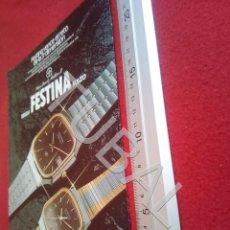 Vintage: TUBAL FESTINA RELOJ SUIZO RELOJERIA RELOJES PUBLICIDAD ANTIGUA 100% ORIGINAL B19. Lote 194491141