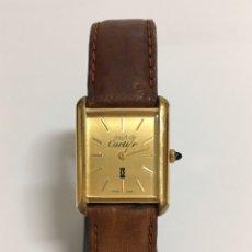 Vintage: MUST DE CARTIER 18K ELECTROCHAPADO DE CUERDA. Lote 194510417