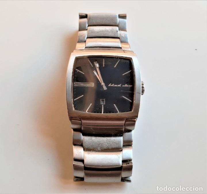 PESADO Y ROBUSTO RELOJ BLACK DICE CALENDARIO ACERO - CAJA 42 X 42.MM (Relojes - Relojes Vintage )