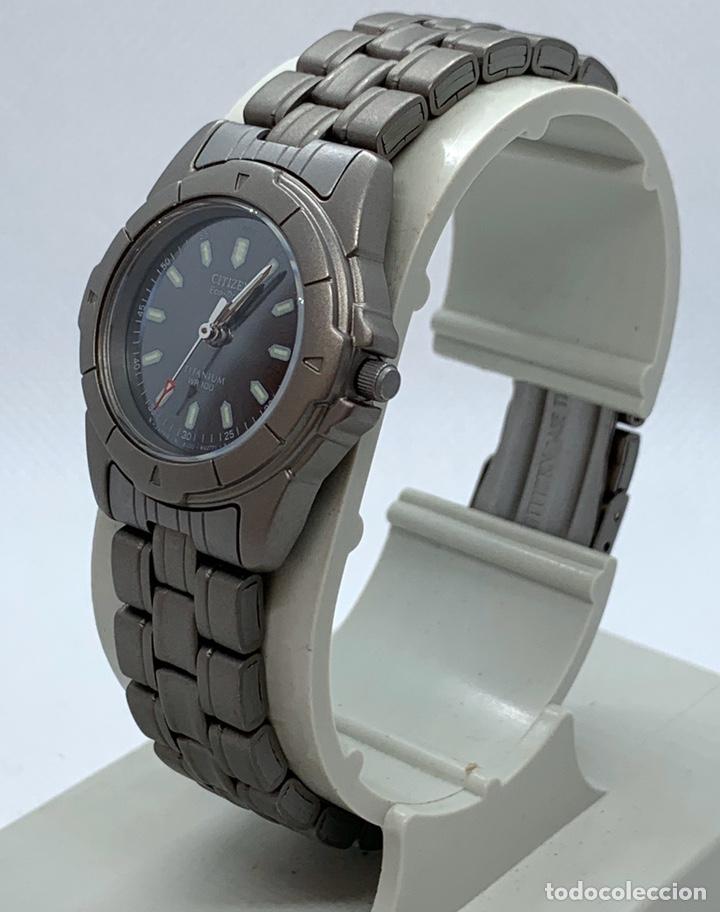 Vintage: Reloj Citizen Titanio Eco Drive de mujer nuevo antiguo stock - Foto 3 - 194898186