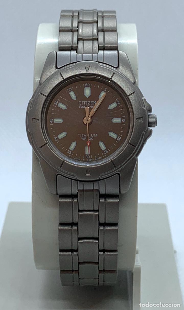 RELOJ CITIZEN TITANIO ECO DRIVE DE MUJER NUEVO ANTIGUO STOCK (Relojes - Relojes Vintage )
