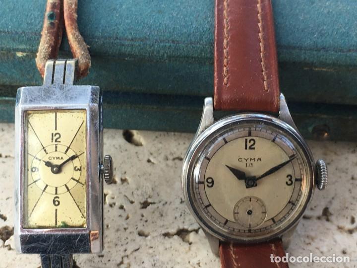 LOTE DOS RELOJES DE MUJER CYMA AÑOS 20 Y 30 PARA REPARAR (Relojes - Relojes Vintage )