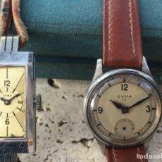 Vintage: LOTE DOS RELOJES DE MUJER CYMA AÑOS 20 Y 30 PARA REPARAR. Lote 195115997