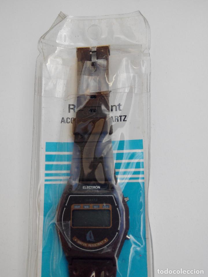 Vintage: RELOJ MARCA ELECTRON - DIGITAL - SIN USAR - - Foto 3 - 195338385