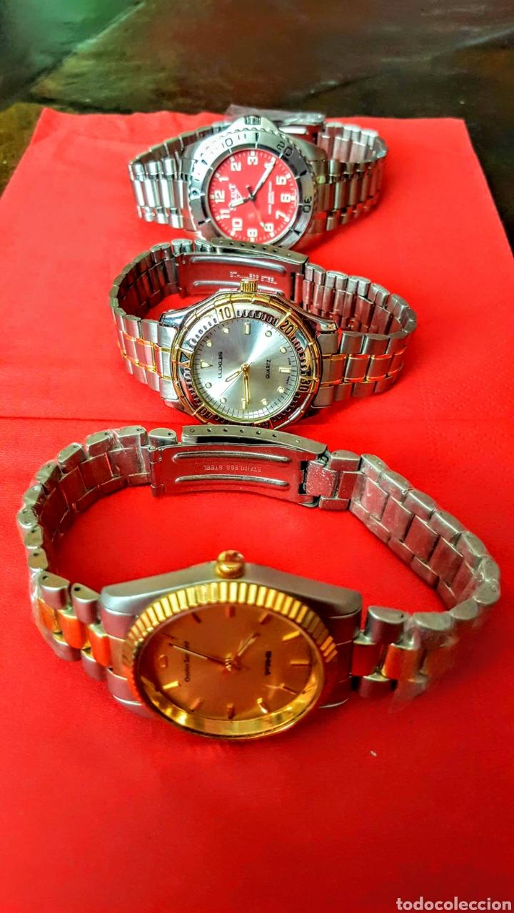 Vintage: Lote de 3 relojes de cuarzo japan NUEVOS procedente de relojeria cerrada todos los relojes funcionan - Foto 5 - 195384600