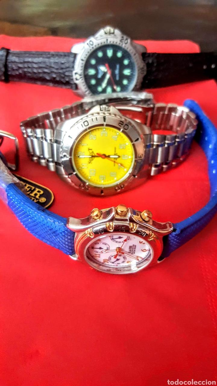 Vintage: Lote de 3 relojes de cuarzo japan NUEVOS procedente de relojeria cerrada todos los relojes funcionan - Foto 5 - 195389280