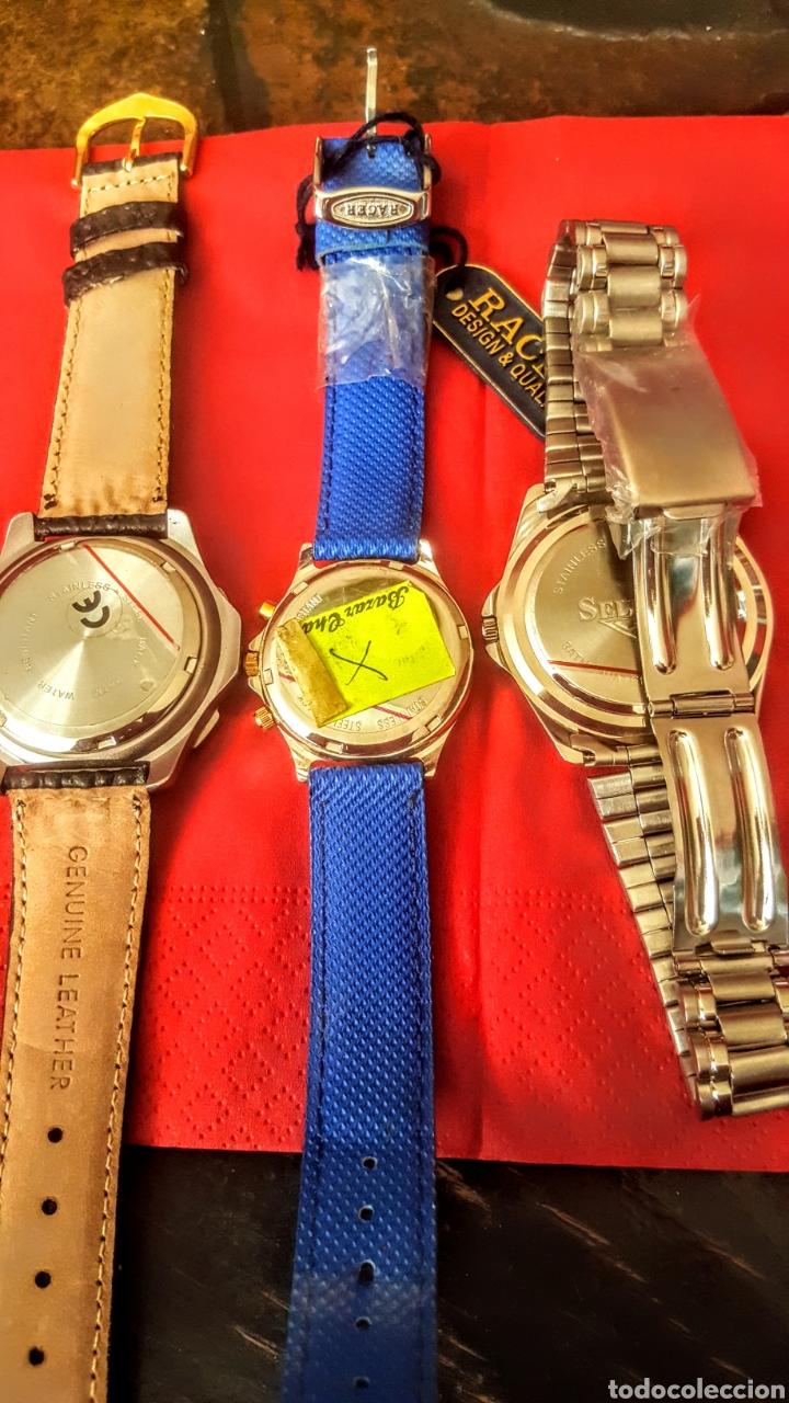 Vintage: Lote de 3 relojes de cuarzo japan NUEVOS procedente de relojeria cerrada todos los relojes funcionan - Foto 6 - 195389280