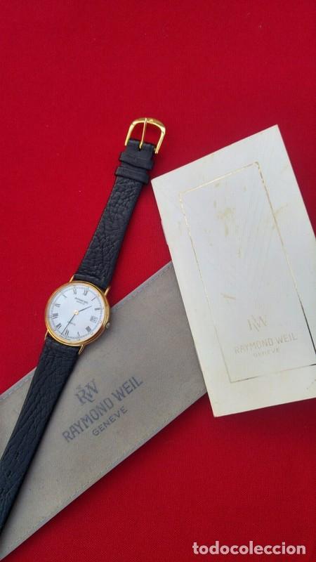 Vintage: Reloj vintage para hombre RAYMOND WEIL plaque or 18k , USADO POCO, BUEN ESTADO * - Foto 5 - 195396375