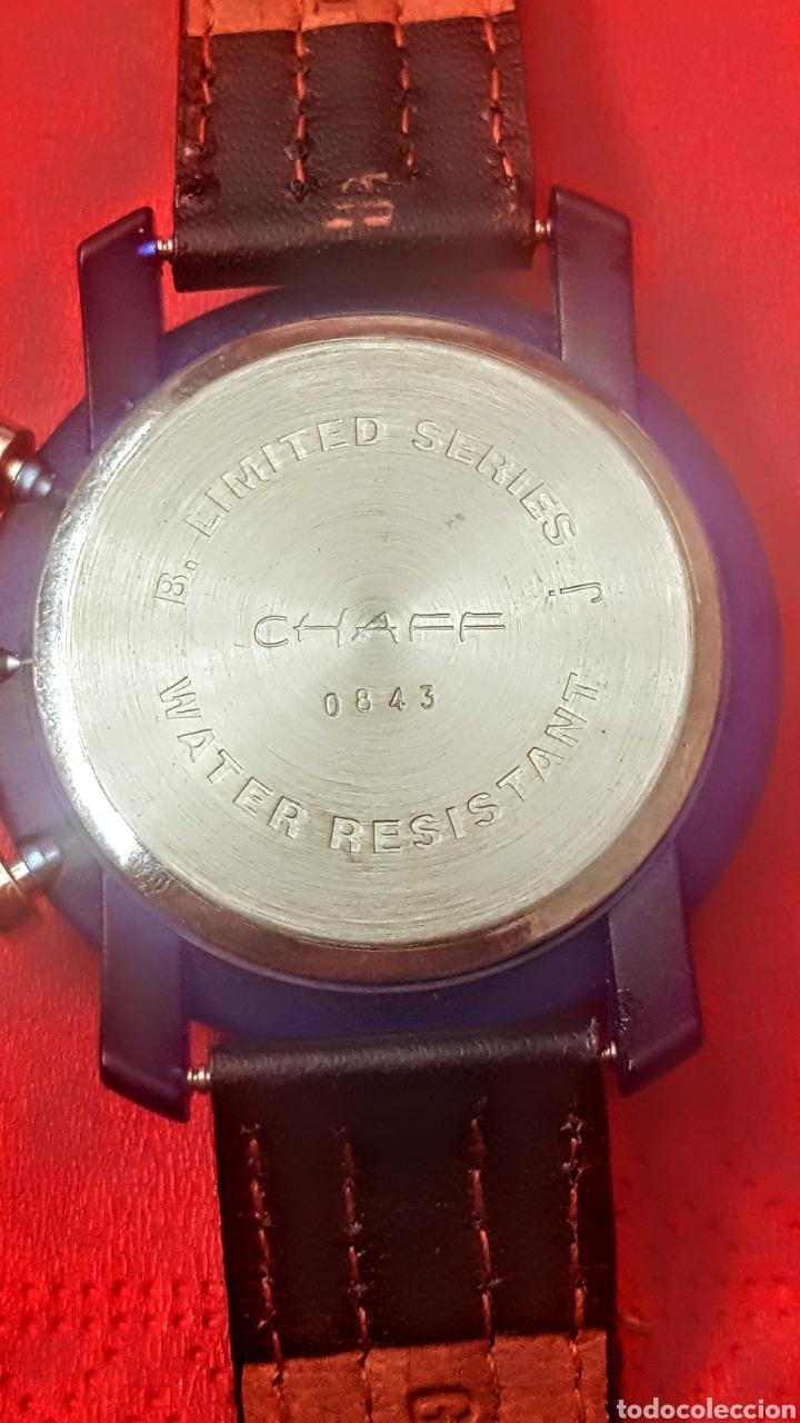 Vintage: RELOJ CHAFF MULTIFUNCION CUARZO FUNCIONA PERFECTAMENTE DIÁMETRO 40MILIMETROS - Foto 2 - 195404411