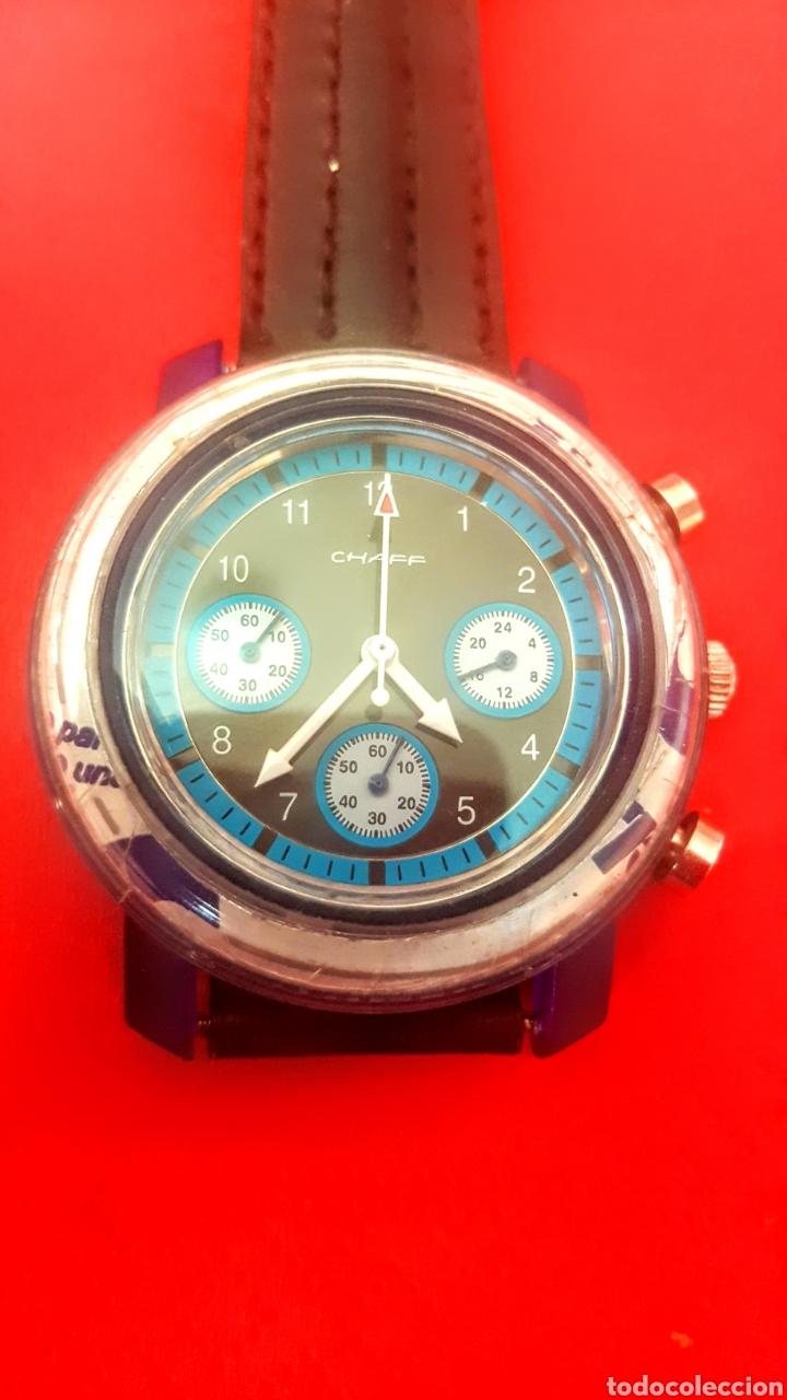 RELOJ CHAFF MULTIFUNCION CUARZO FUNCIONA PERFECTAMENTE DIÁMETRO 40MILIMETROS (Relojes - Relojes Vintage )