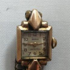Vintage: ANTIGUO RELOJ DE PULSERA DANIS .SWISS MOVT.CARGA MANUAL.LUNETTE PLAQUE OR LAMINÉ 40 MICRONS.. Lote 196518372