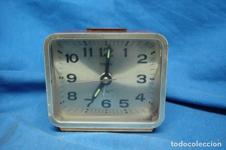 Vintage: RELOJ DESPERTADOR MARCA IMPEX TRANSISTOR MADE IN JAPAN - Foto 1 - 198299786