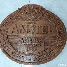 Vintage: RELOJ PUBLICIDAD AMSTEL AGUILA. RESINA. ORIGINAL. RELIEVE.. Lote 202585151