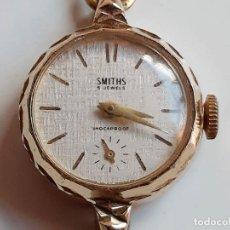 Vintage: SMITHS RELOJ MECANICO 5 JEWELS ORO BAÑADO - CAJA DE 22.MM DIAMETRO. Lote 205197047