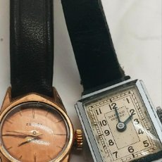Vintage: LOT 2 WATCHES VINTAGE ZENITH GOLD 20 MICRONS AND RECORD GENEVE WATCH. Lote 205598667