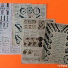 Vintage: ANTIGUA PUBLICIDAD RELOJES CERTINA, CAUNY,FESTINA, CERTINA, ROSKOPF, DUWARD, CARTEL. Lote 206117547