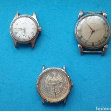 Vintage: LOTE DE 3 RELOJES DE PULSERA. NO FUNCIONAN.. Lote 206535761