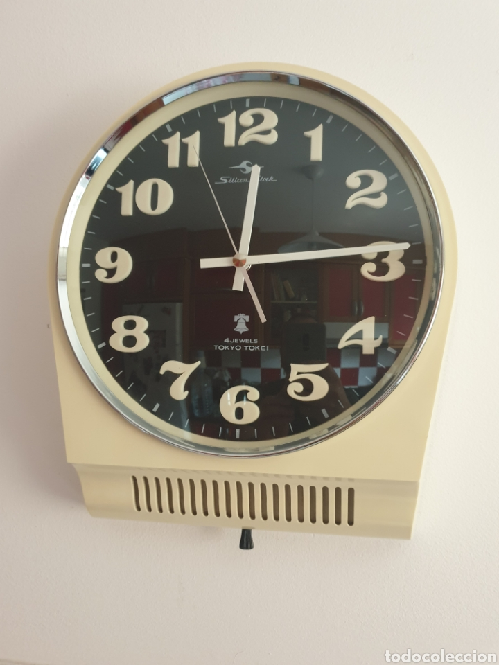 Vintage: RELOJ DE PARED TOKYO TOKEI. RETRO VINTAGE. SPACE AGE. MADE IN JAPAN. FUNCIONANDO. - Foto 4 - 206968600