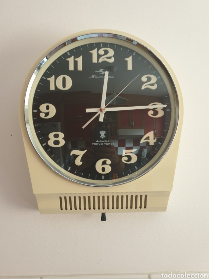 Vintage: RELOJ DE PARED TOKYO TOKEI. RETRO VINTAGE. SPACE AGE. MADE IN JAPAN. FUNCIONANDO. - Foto 5 - 206968600