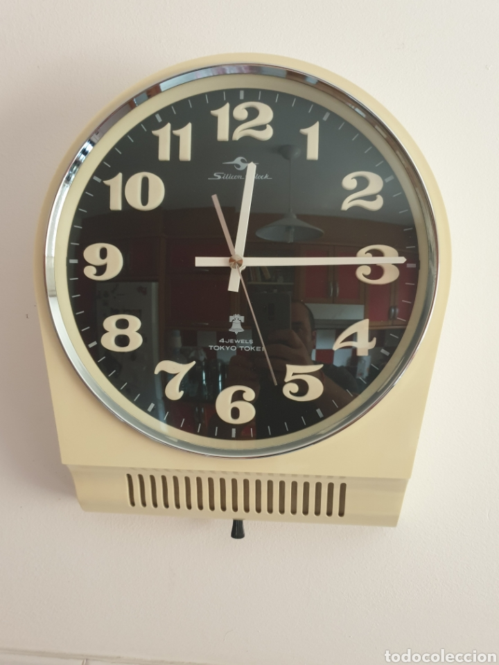 Vintage: RELOJ DE PARED TOKYO TOKEI. RETRO VINTAGE. SPACE AGE. MADE IN JAPAN. FUNCIONANDO. - Foto 6 - 206968600