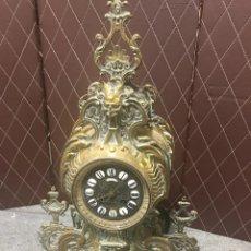 Vintage: RELOJ DE SOBREMESA DE BRONCE ANTIGUO NAUVILLE. Lote 207164188