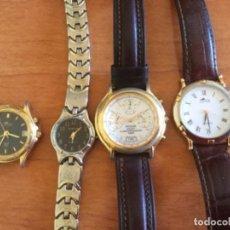 Vintage: 4 RELOJES DE CUARZO. 2 DE MUJER Y 2 DE CABALLERO. LOTUS, PULSAR, GENEVA. Lote 207821710