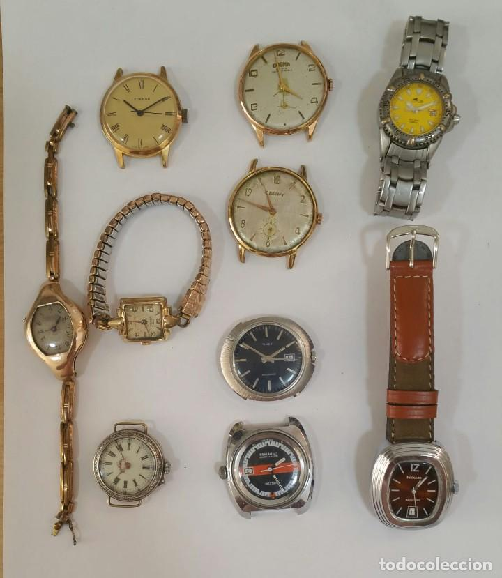 LOTAZO 3 DE RELOJES, MAQUINARIAS...ETC (Relojes - Relojes Vintage )