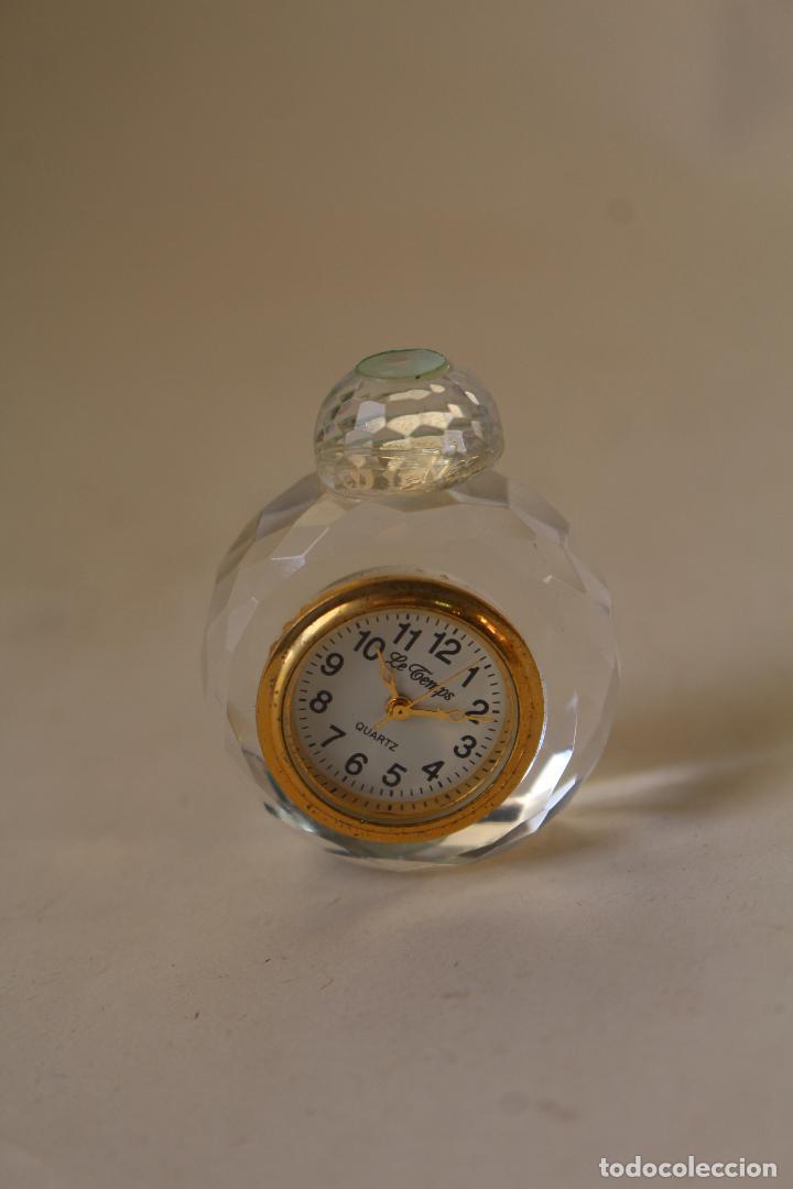 RELOJ MINIATURA LE TEMPS QUARTZ - RELOJ DESPERTADOR (Relojes - Relojes Vintage )