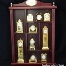 Vintage: COLECCION 10 RELOJ MINIATURA: THE ROYAL CLOCKS COLLECTION.BAÑO ORO. Lote 210560031