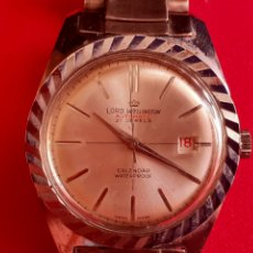 Vintage: RELOJ LORD WELLINGTON AUTOMATIC 21 JEWELS CALENDARIO WATERPROOF FUNCIONA BIEN .MIDE 35 MM DIAMETRO. Lote 210561717