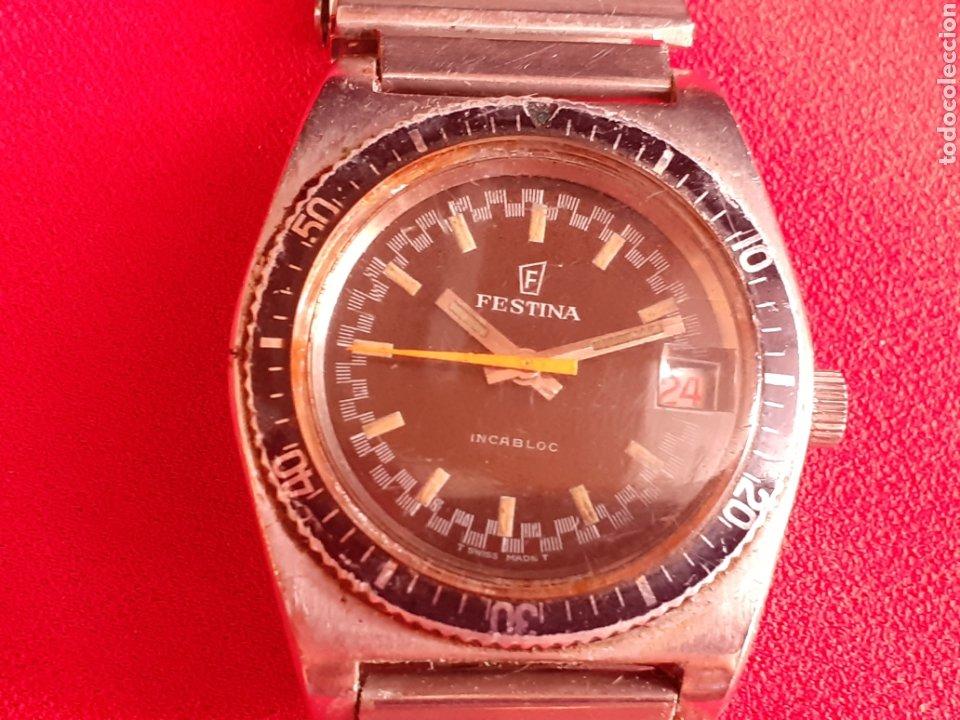 RELOJ FESTINA AUTOMATICO INCABLOC FUNCIONA BIEN .MIDE 35 MM DIAMETRO (Relojes - Relojes Vintage )