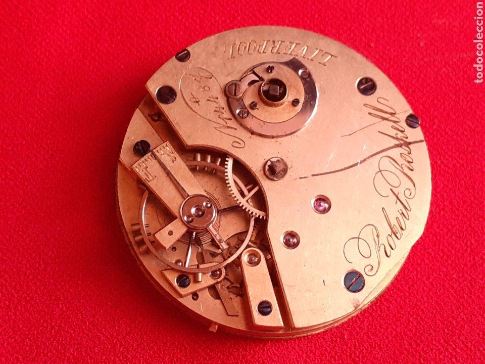Vintage: Reloj bolsillo antiguo. Robert Roskell. Liverpool. No va .mide 40 mm diametro - Foto 2 - 210563932