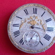 Vintage: RELOJ BOLSILLO ANTIGUO. ROBERT ROSKELL. LIVERPOOL. NO VA .MIDE 40 MM DIAMETRO. Lote 210563932