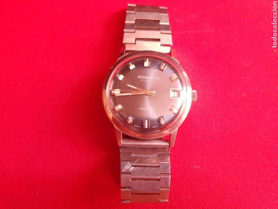 RELOJ REPAWATCH 17 RUBIS AUTOMATIC INCABLOC .FUNCION BIEN .MIDE 35 MM DIAMETRO (Relojes - Relojes Vintage )