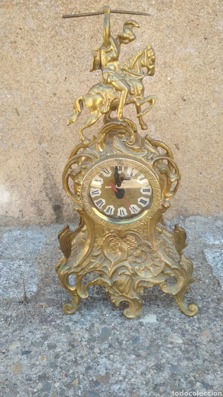 RELOJ DE MESA BRONCE. (Relojes - Relojes Vintage )