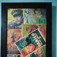 Vintage: RELOJ VINTAGE DECORADO CON ENTRADAS DE CINE ANTIGUAS DE LOS AÑOS 40,50 Y 60. Lote 212270308
