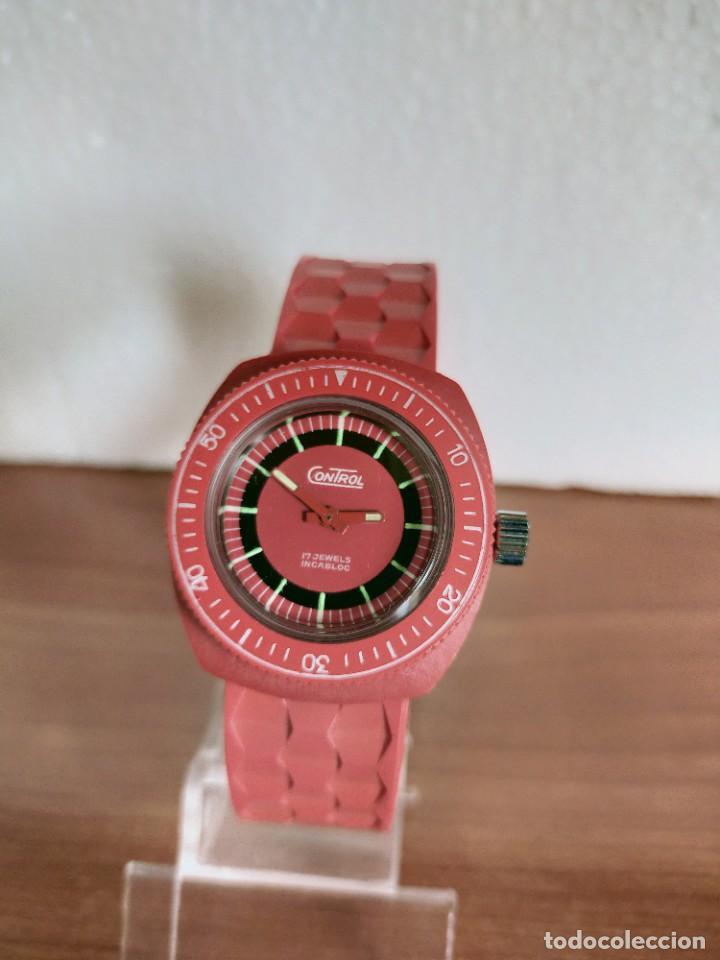 Vintage: Reloj señora de cuerda (Vintage) Control caja de resina dura 17 rubís con maquinaria Suiza incabloc. - Foto 8 - 213259395