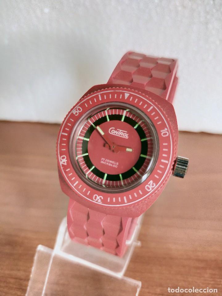 Vintage: Reloj señora de cuerda (Vintage) Control caja de resina dura 17 rubís con maquinaria Suiza incabloc. - Foto 11 - 213259395