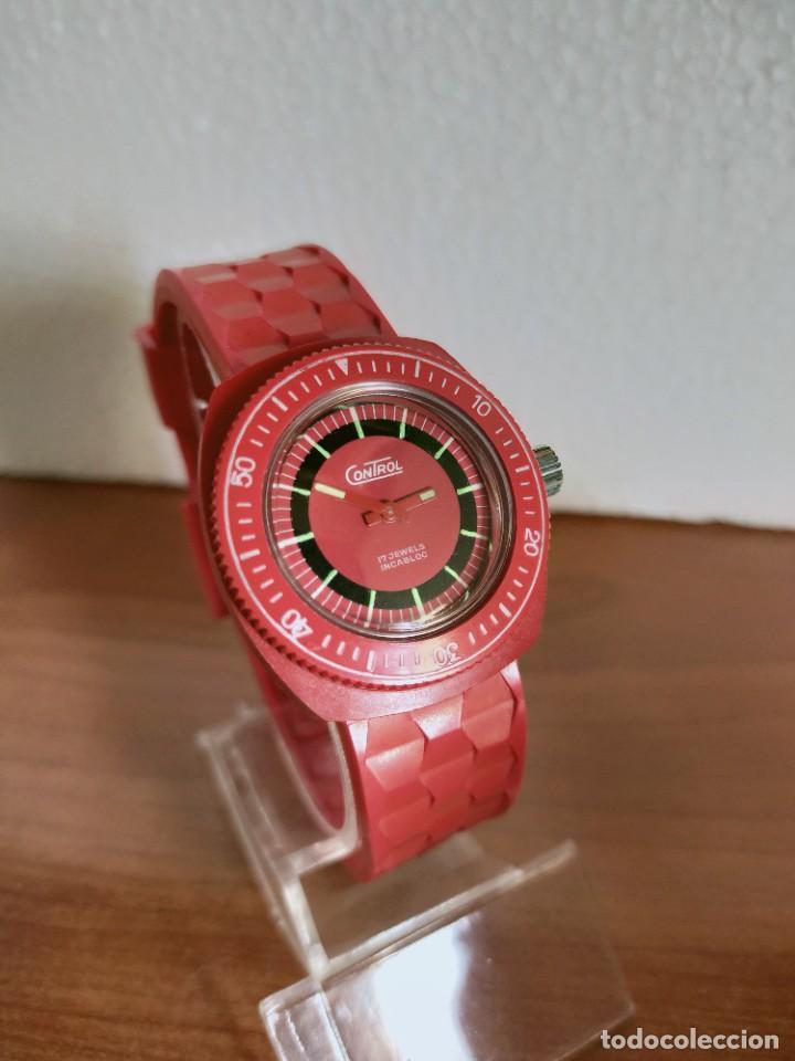 Vintage: Reloj señora de cuerda (Vintage) Control caja de resina dura 17 rubís con maquinaria Suiza incabloc. - Foto 12 - 213259395