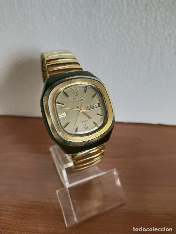 Vintage: Reloj caballero (Vintage) CITIZEN automático 21 rubis con doble calendario, correa acero de estirar. - Foto 2 - 213262191