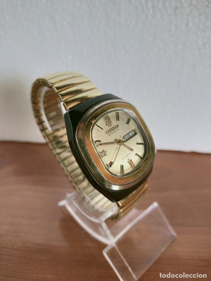 Vintage: Reloj caballero (Vintage) CITIZEN automático 21 rubis con doble calendario, correa acero de estirar. - Foto 4 - 213262191