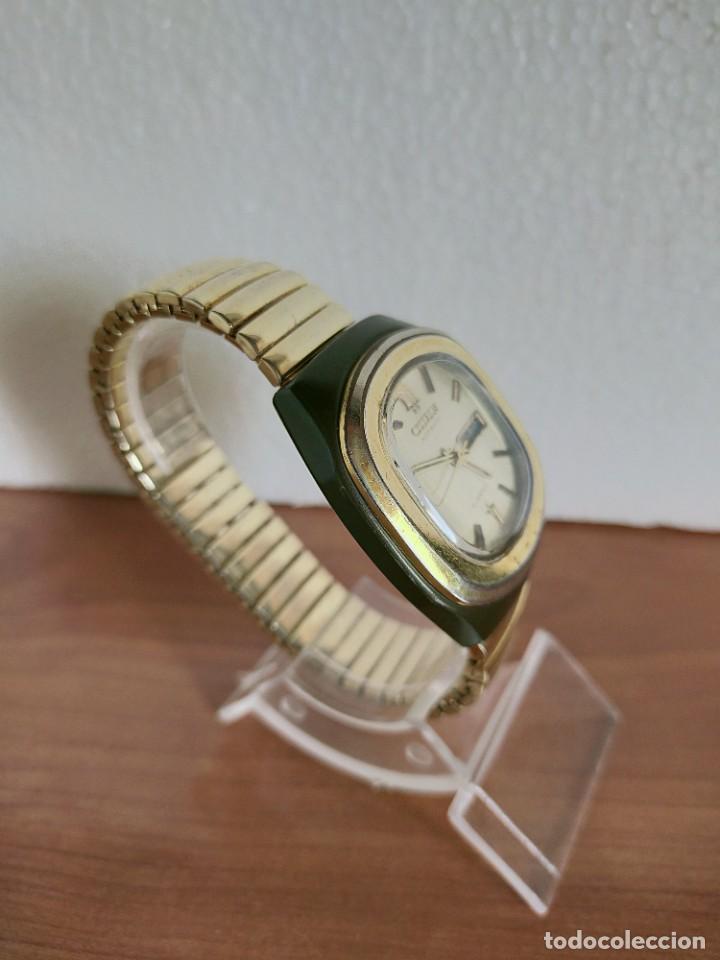 Vintage: Reloj caballero (Vintage) CITIZEN automático 21 rubis con doble calendario, correa acero de estirar. - Foto 7 - 213262191