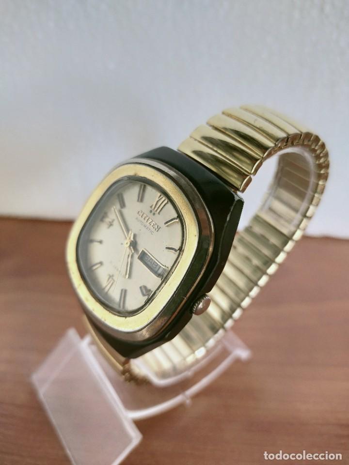 Vintage: Reloj caballero (Vintage) CITIZEN automático 21 rubis con doble calendario, correa acero de estirar. - Foto 8 - 213262191
