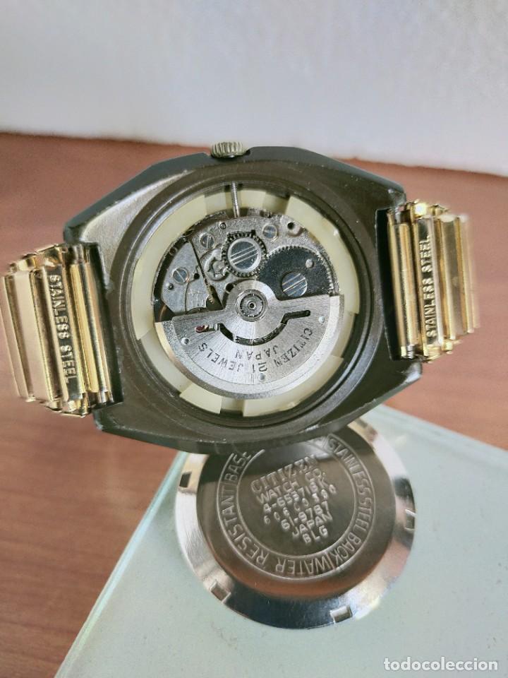 Vintage: Reloj caballero (Vintage) CITIZEN automático 21 rubis con doble calendario, correa acero de estirar. - Foto 10 - 213262191