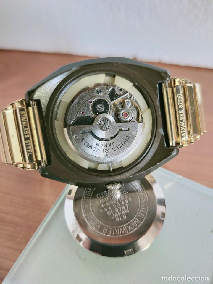 Vintage: Reloj caballero (Vintage) CITIZEN automático 21 rubis con doble calendario, correa acero de estirar. - Foto 15 - 213262191