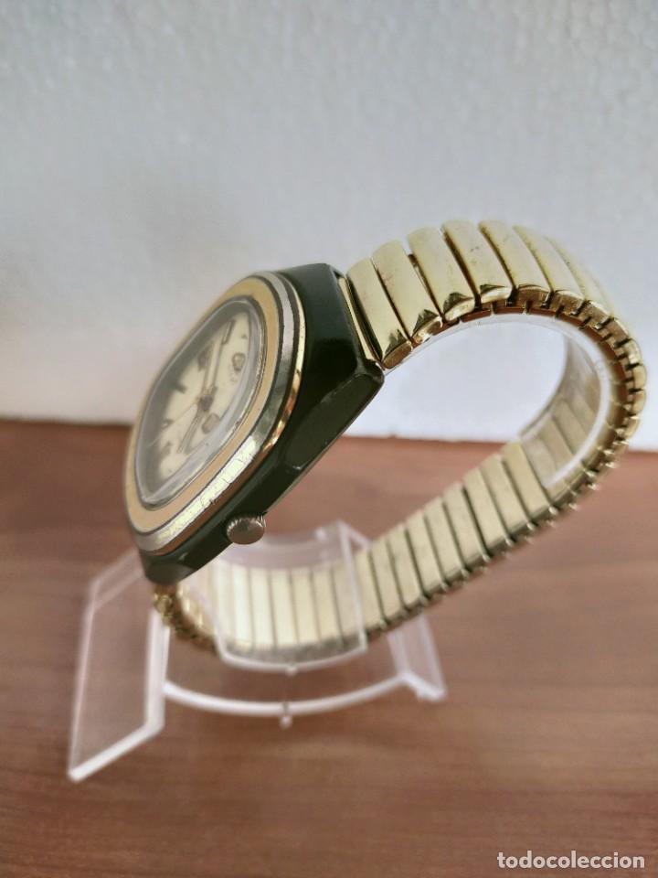 Vintage: Reloj caballero (Vintage) CITIZEN automático 21 rubis con doble calendario, correa acero de estirar. - Foto 16 - 213262191