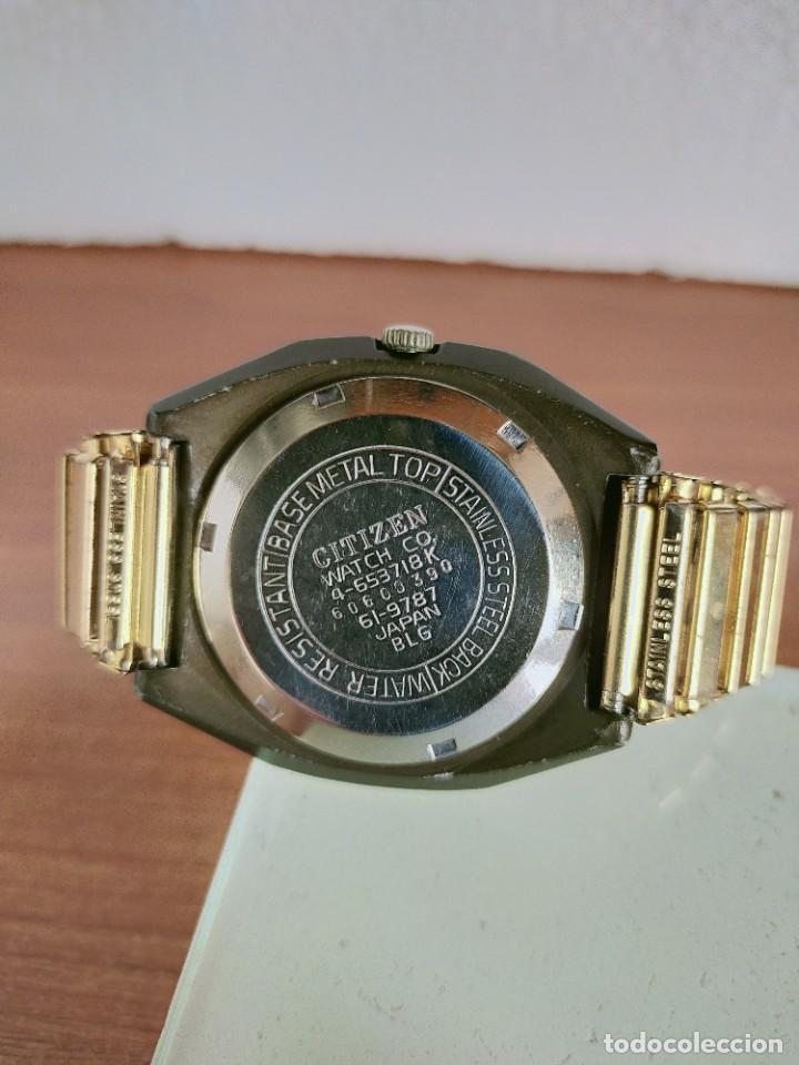 Vintage: Reloj caballero (Vintage) CITIZEN automático 21 rubis con doble calendario, correa acero de estirar. - Foto 17 - 213262191